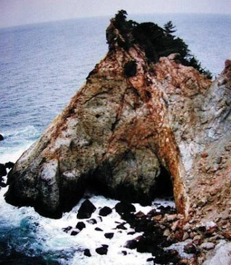 časť ostrova pripomínajúca hlavu spiaceho koňa